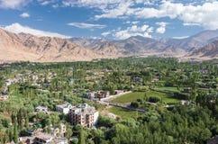 Paesaggio urbano di Leh - Ladakh, India Immagini Stock Libere da Diritti