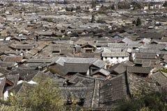 Paesaggio urbano di Lijiang, il Yunnan, Cina Fotografie Stock