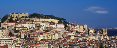 Paesaggio urbano di Lisbona Fotografia Stock Libera da Diritti