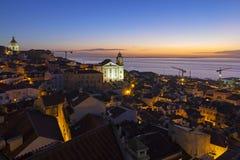 Paesaggio urbano di Lisbona fotografie stock
