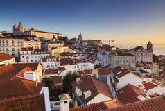 Paesaggio urbano di Lisbona fotografia stock