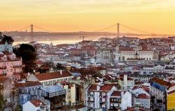 Paesaggio urbano di Lisbona - di Lisbona, Portogallo Fotografie Stock Libere da Diritti