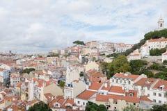 Paesaggio urbano di Lisbona, Portogallo fotografia stock