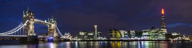 Paesaggio urbano di Londra panoramico Fotografie Stock Libere da Diritti