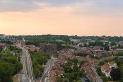 Paesaggio urbano di Lovanio fotografia stock libera da diritti