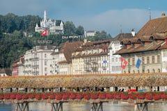 Paesaggio urbano di Lucerna fotografia stock libera da diritti