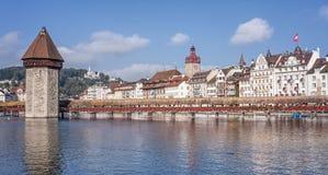 Paesaggio urbano di Lucerna Immagini Stock