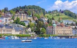 Paesaggio urbano di Lucerna fotografia stock