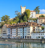 Paesaggio urbano di Lucerna fotografie stock