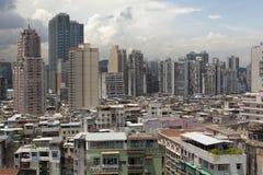 Paesaggio urbano di Macao Fotografie Stock