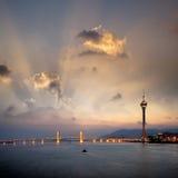 Paesaggio urbano di Macau fotografie stock