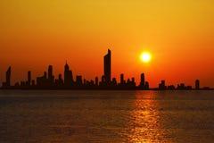 Paesaggio urbano di Madinat al-Kuwait immagine stock libera da diritti