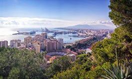 Paesaggio urbano di Malaga, Andalusia, Spagna immagini stock libere da diritti