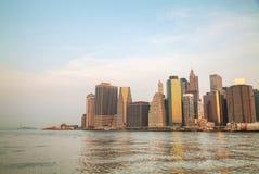 Paesaggio urbano di Manhattan Immagini Stock
