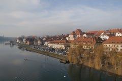 Paesaggio urbano di Maribor Fotografie Stock Libere da Diritti