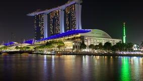 Paesaggio urbano di Marina Bay Singapore al rallentatore Pentola su video d archivio