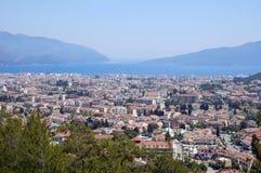 Paesaggio urbano di Marmaris, Turchia. Vista da sopra Fotografia Stock Libera da Diritti