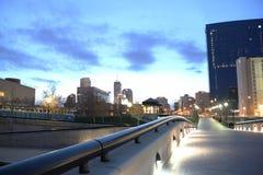 Paesaggio urbano di mattina Immagini Stock