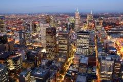 Paesaggio urbano di Melbourne Fotografia Stock
