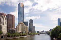 Paesaggio urbano di Melbourne Immagini Stock Libere da Diritti