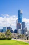 Paesaggio urbano di Melbourne del centro Fotografia Stock Libera da Diritti