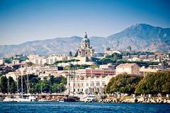 Paesaggio urbano di Messina fotografia stock libera da diritti
