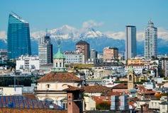 Paesaggio urbano di Milano Immagine Stock Libera da Diritti