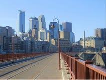 Paesaggio urbano di Minneapolis Fotografie Stock Libere da Diritti