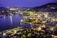 Paesaggio urbano di Nagasaki Giappone fotografia stock