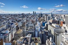 Paesaggio urbano di Nagoya, Giappone Immagine Stock