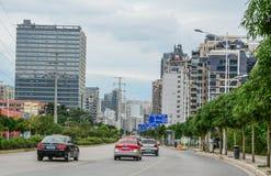 Paesaggio urbano di Nanning, Cina fotografie stock