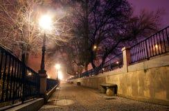 Paesaggio urbano di notte Fotografia Stock Libera da Diritti