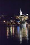 Paesaggio urbano di notte Immagini Stock Libere da Diritti