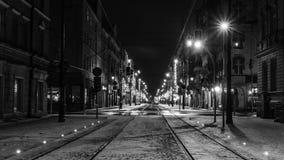 Paesaggio urbano di notte Fotografia Stock