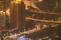 Paesaggio urbano di notte di Chongqing fotografia stock