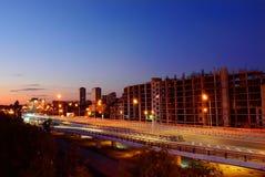 Paesaggio urbano di notte, Corridoio Rostov-On-Don La Russia Immagine Stock Libera da Diritti