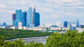 Paesaggio urbano di nuova Mosca Fotografia Stock Libera da Diritti