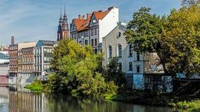 Paesaggio urbano di Opole Fotografia Stock Libera da Diritti