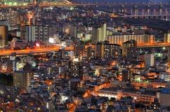 Paesaggio urbano di Osaka fotografia stock