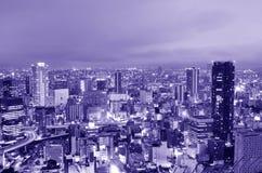 Paesaggio urbano di Osaka Fotografia Stock Libera da Diritti