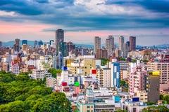 Paesaggio urbano di Osaka, Giappone fotografia stock libera da diritti