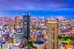 Paesaggio urbano di Osaka, Giappone Umeda fotografia stock libera da diritti