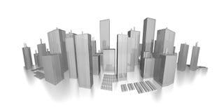 Paesaggio urbano di panorama - orizzonte Immagine Stock