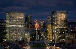 Paesaggio urbano di Parigi alla notte Fotografia Stock