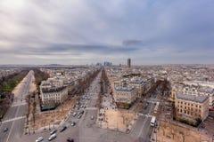 Paesaggio urbano di Parigi - difesa della La Fotografia Stock Libera da Diritti