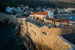 Paesaggio urbano di Petrovac na Mlavi della cittadina montenegro Immagini Stock