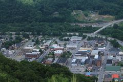Paesaggio urbano di Pineville, Kentucky fotografie stock