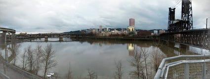 Paesaggio urbano di Portland Fotografia Stock