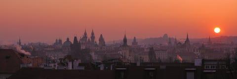 Paesaggio urbano di Praga Immagine Stock