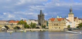 Paesaggio urbano di Praga Fotografie Stock